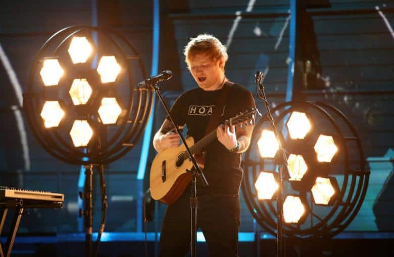 Ed Sheeran storms U.S. Billboard charts