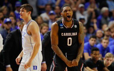 NCAA Tournament Highlights: South Carolina, Michigan pull off upsets