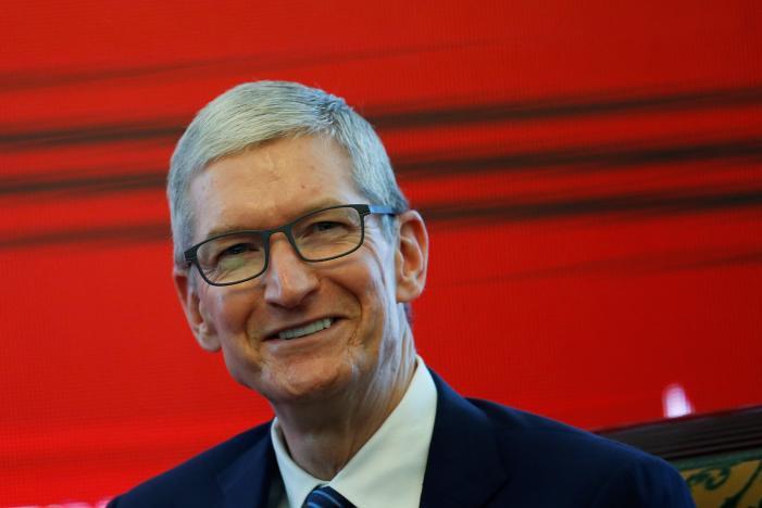 Apple CEO visits China bike-sharing start-up ofo