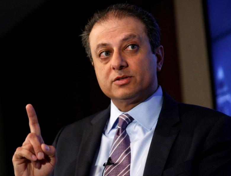 Ex-U.S. Attorney Bharara, fired by Trump, joins NYU law school