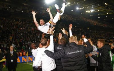 Soccer: Germany's Podolski crowns farewell with stunning winner over England
