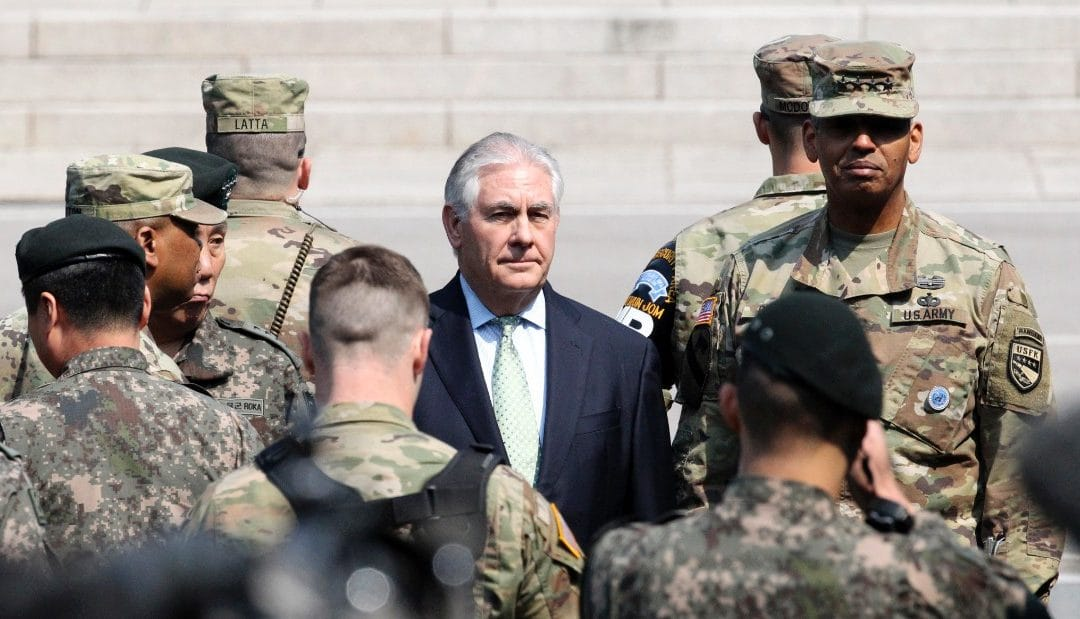 US military action against N. Korea is 'option on table' – Secretary of State Tillerson