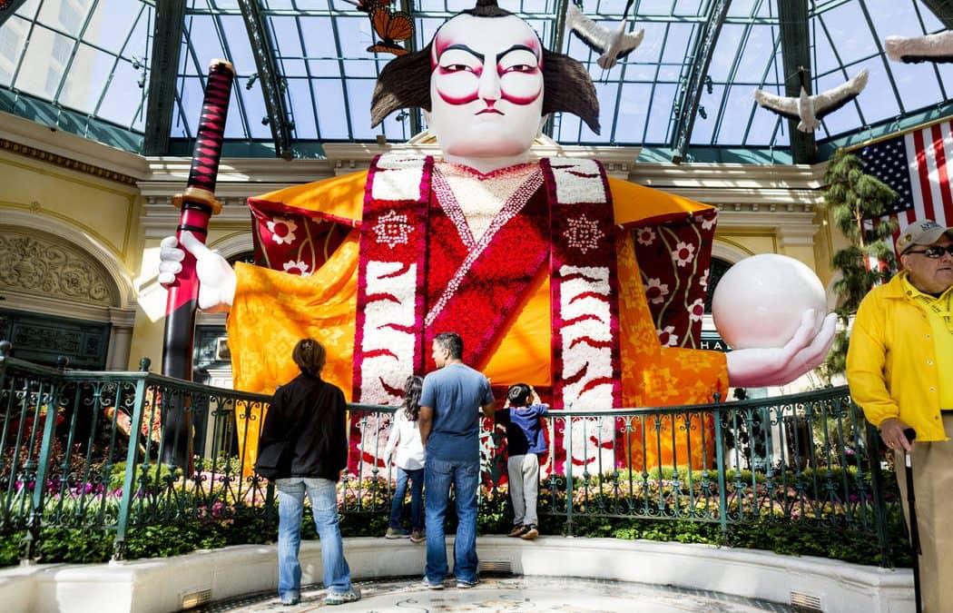 Bellagio Conservatory transformed into Japanese tea garden for spring