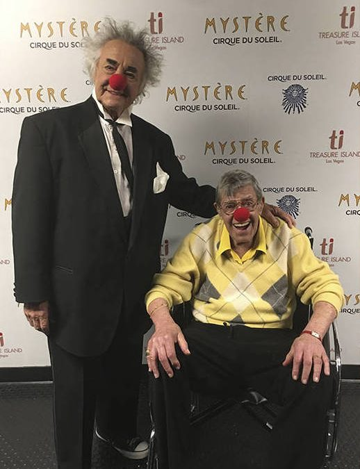 A clown summit on Las Vegas Strip with Jerry Lewis, Brian Dewhurst
