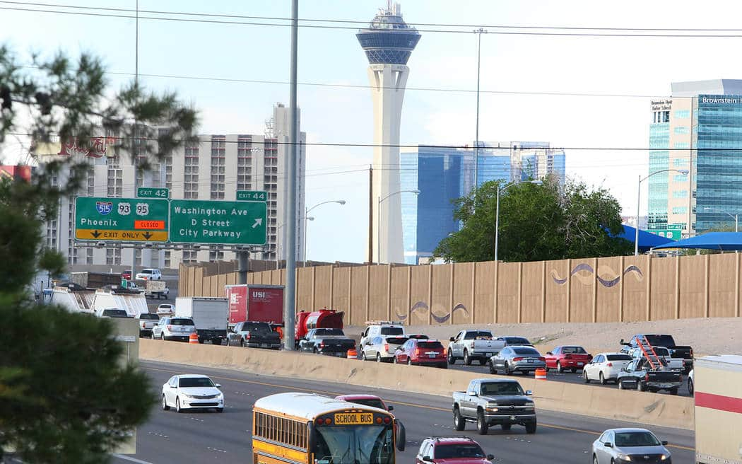 Traffic slow but moving as 'Big Squeeze' begins near downtown Las Vegas