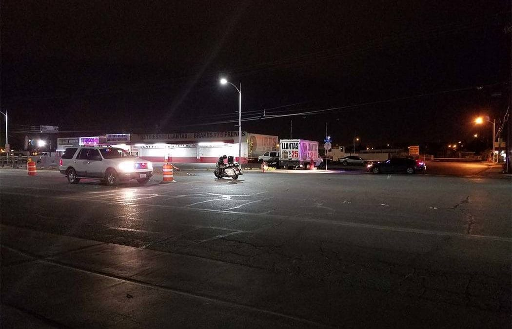 4 arrested after shooting at police, crashing vehicle in northeast Las Vegas