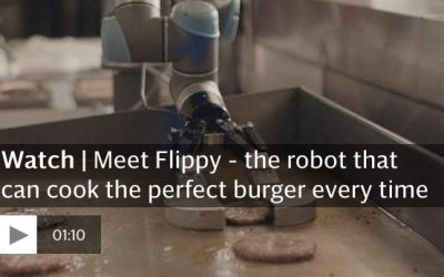 Burger-flipping robot replaces humans on first day at work