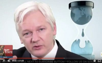 Julian Assange from Wikileaks Holds News Conference on CIA leaks