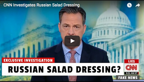 CNN 'Investigated' Russian Salad Dressing After White House Press Secretary's Joke
