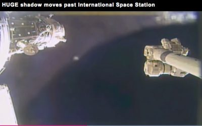 HUGE circular shadow floats past ISS in remarkable NASA footage