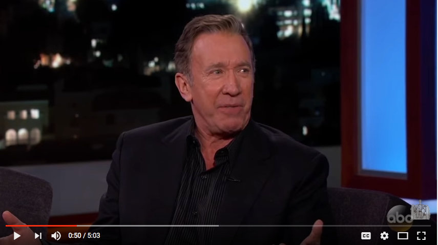A Conservative In Hollywood Is Like Being A Jew In 1930's NAZI Germany – Tim Allen Jimmy Kimmel Live