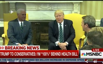 Trump Trashes 'Fake Media' For Falsely Reporting On American Health Care Act