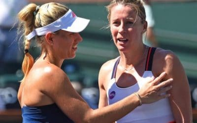 Kerber rallies to reach fourth round; Halep bows out