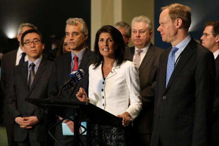 U.S., Britain, France, others skip nuclear weapons ban treaty talks