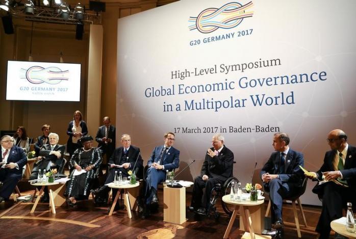 G20 financial leaders acquiesce to U.S., drop free trade pledge