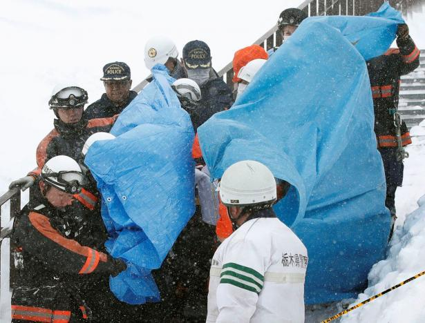 Japan avalanche kills seven high school students, teacher
