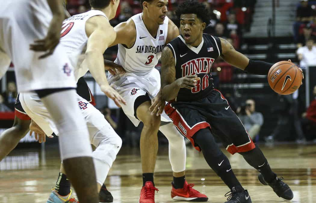 UNLV knocked out of Mountain West tournament by San Diego State, 62-52