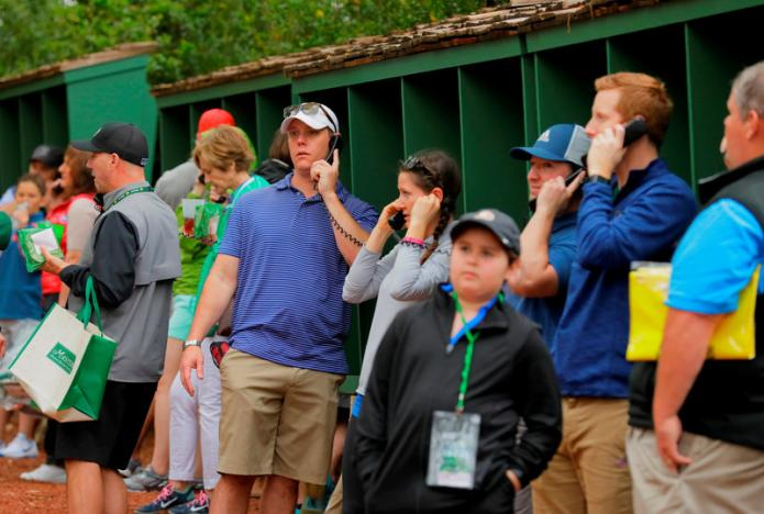 Masters phone ban has fans dialed into the action