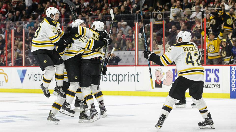 Bruins stay alive with 2 OT win over Senators