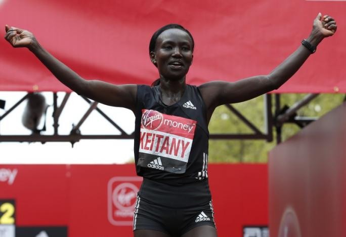 Kenya's Keitany breaks women's only world record at London Marathon