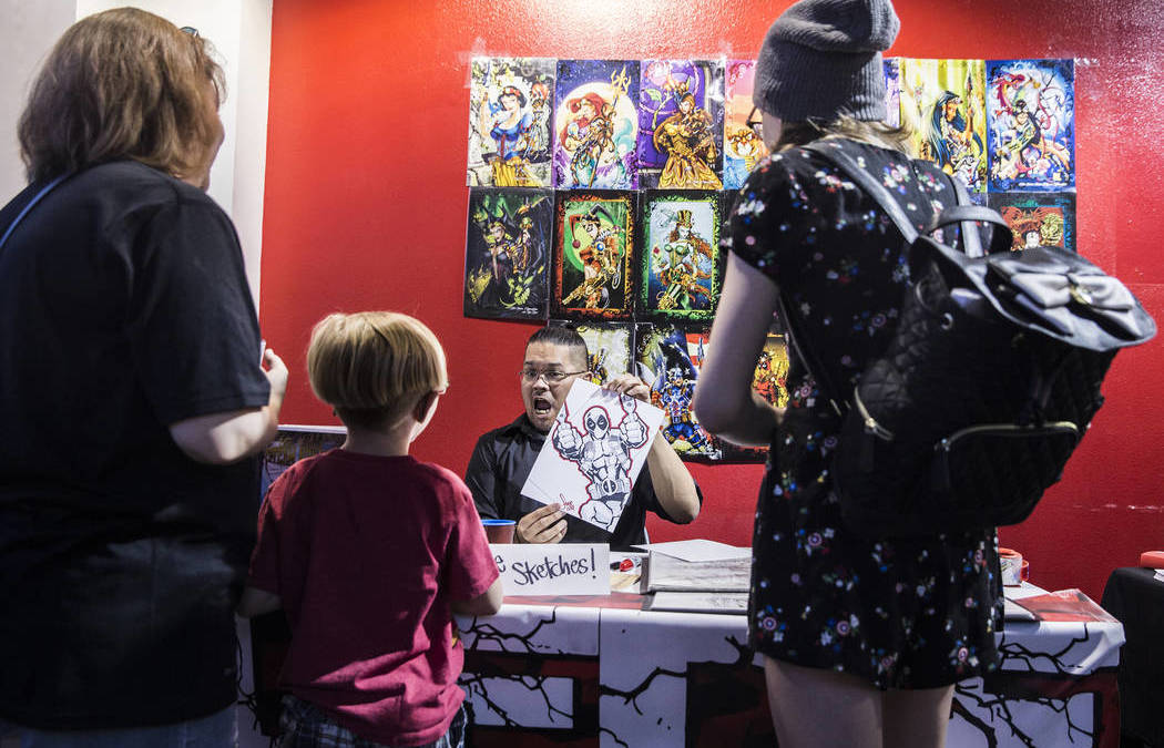 Las Vegas comic book artists inspire and donate to kids