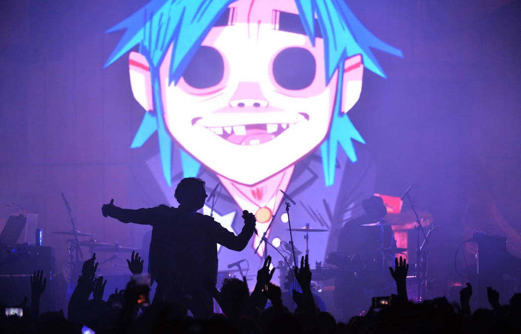 Gorillaz coming to Life is Beautiful in downtown Las Vegas