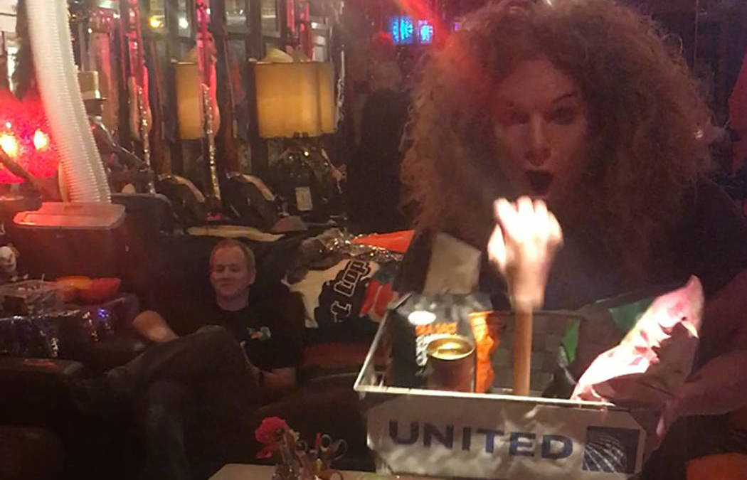 Carrot Top's new 'United Airlines' prop packs a punch