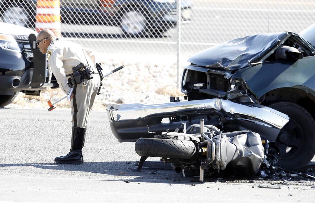 Motorcyclist dies after crash in northwest Las Vegas
