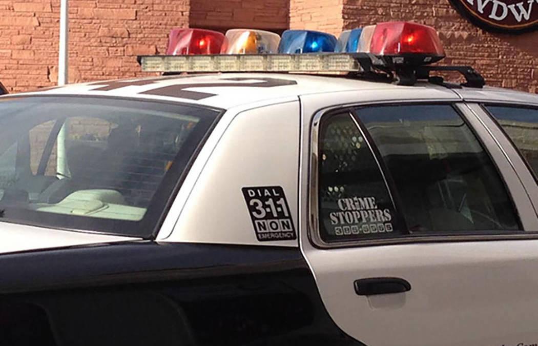 Man flees traffic stop, hit by Las Vegas patrol car