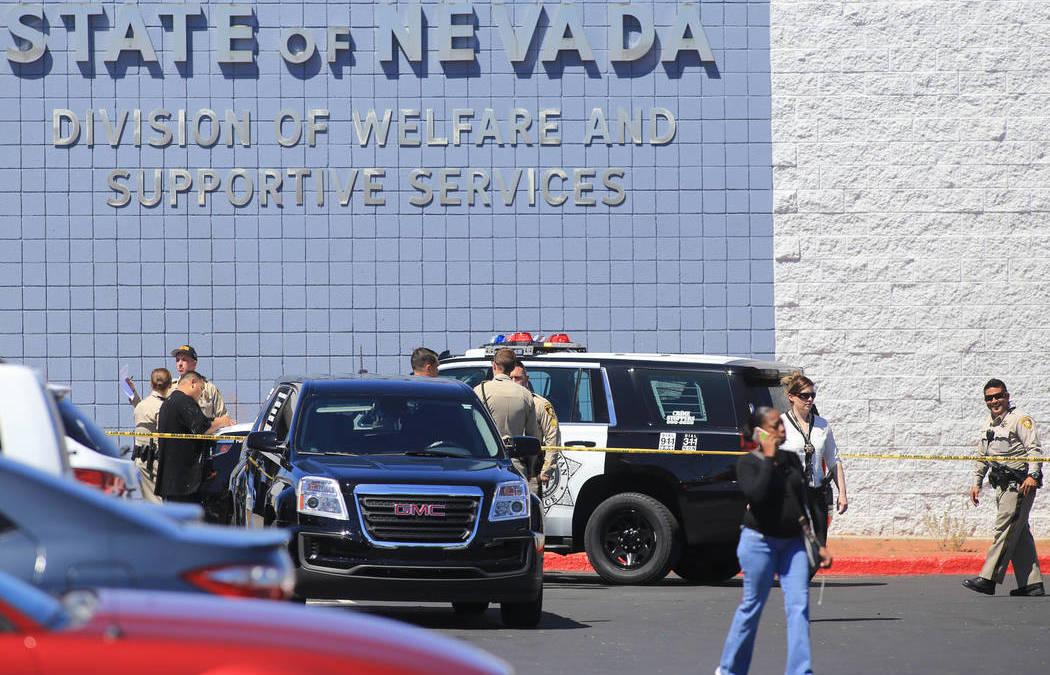 1 injured in shooting outside Las Vegas welfare office