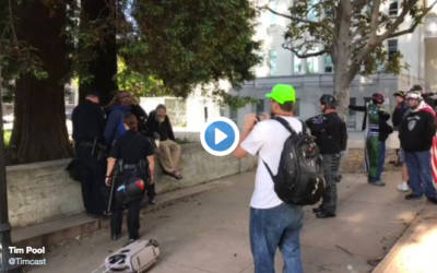 Berkeley agitator shouts 'f*ck these honkies!' during arrest