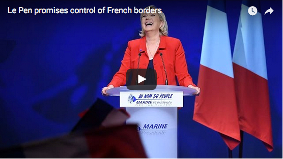 Le Pen promises control of French borders