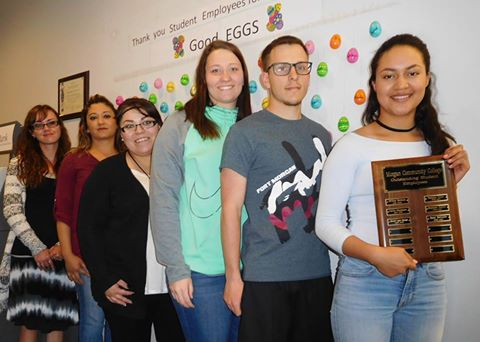 Morgan Community College recognizes student employees