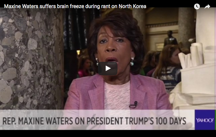 Maxine Waters suffers brain freeze during rant on North Korea
