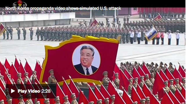 North Korea video showing the White House in crosshairs and carriers exploding
