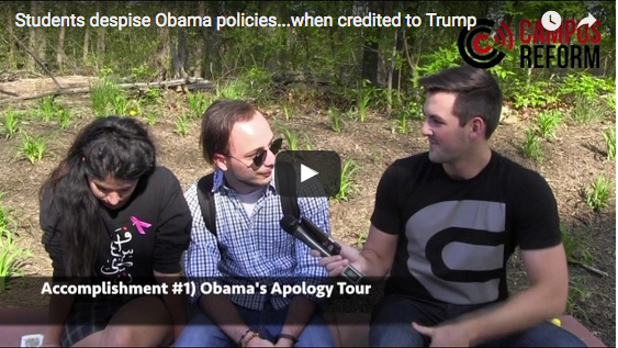 Students despise Obama policies…when credited to Trump