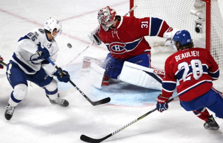 NHL: Bolts beat Canadiens to stay in playoff hunt