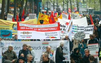 Police injured in protests against right-wing AfD party congress