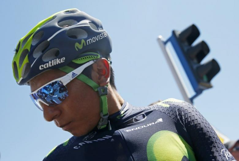 Quintana takes lead after crash-ridden Giro stage