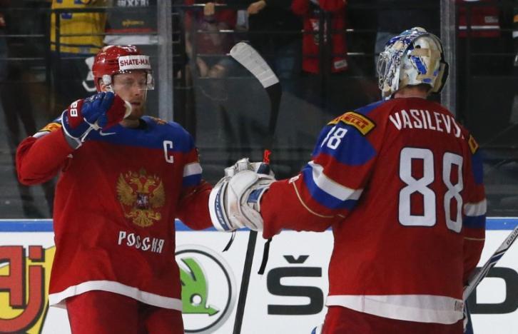 Ice hockey: Russia beat Czechs for last four spot, Finland stun U.S.