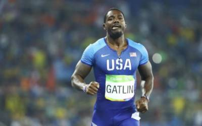 Gatlin claims 100 meters victory at Japan Golden Prix