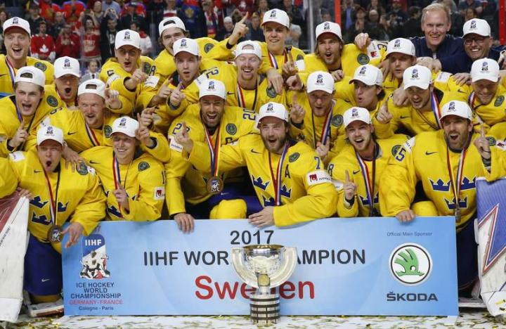 Sweden shock holders Canada in shootout to win world title
