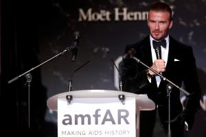 Bidding for Beckham: soccer star among lots at Cannes AIDS auction