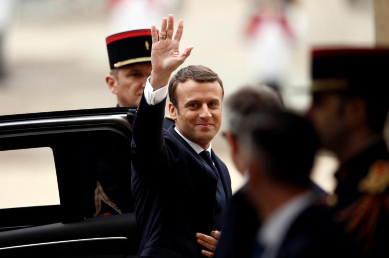 French President Macron's popularity rating drops
