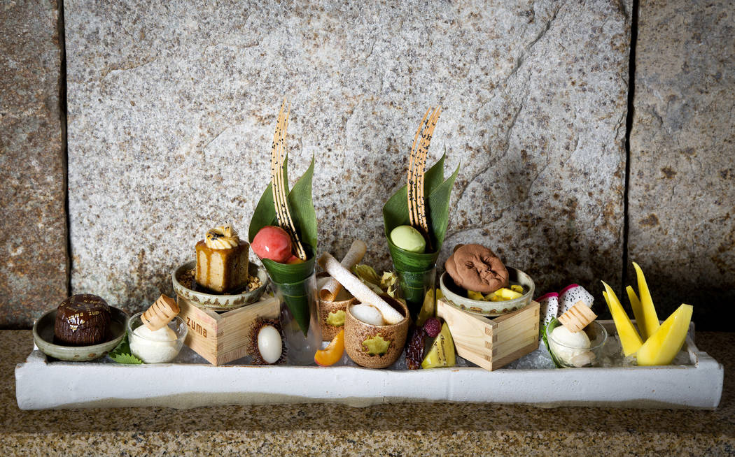 Zuma serves elegant dessert platters perfect for foodies
