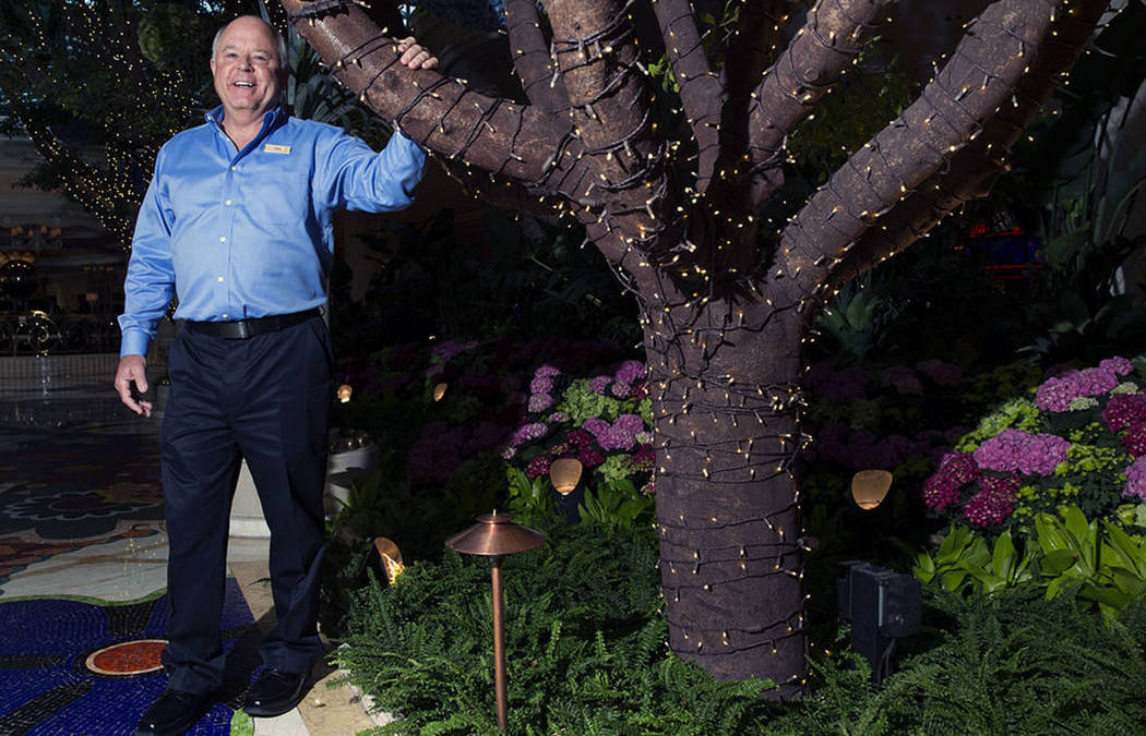 Veteran horticulturist oversees big blooms at Wynn Las Vegas
