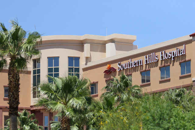 Southern Hills Hospital in Las Vegas changing phone numbers Tuesday