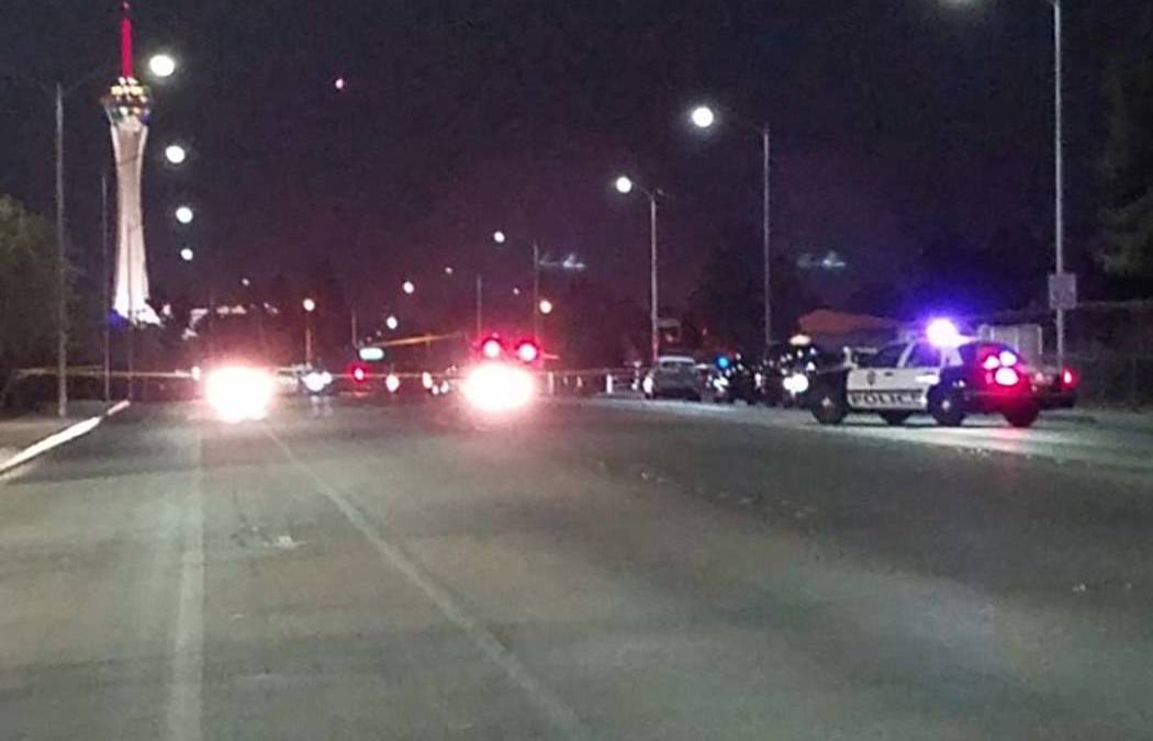 1 dead in likely gang-related shooting near downtown Las Vegas
