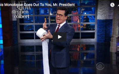 Stephen Colbert's Shocking Attack On Trump Concludes With A Homophobic Slur