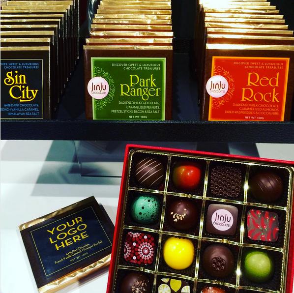 JinJu Chocolates creates Las Vegas-themed chocolate bars